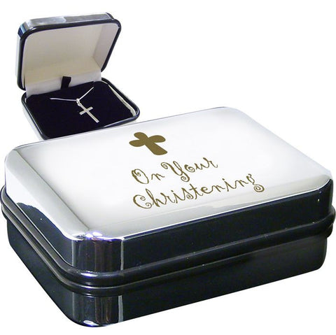 Buy Christening Cross Necklace Box