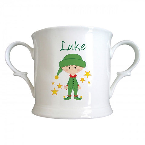 Christmas Elf Bone China Loving Cup | ShaneToddGifts.co.uk