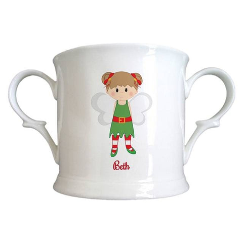 Christmas Pixie Bone China Loving Cup
