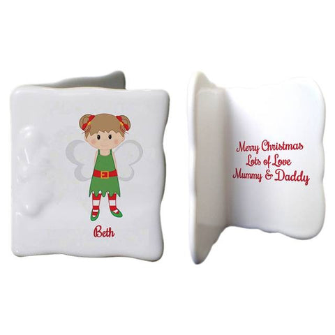 Christmas Pixie Bone China Message Card