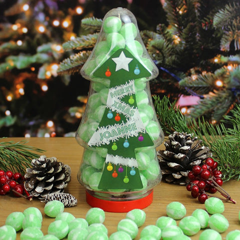 Personalised Christmas Tree Sweet Jar - Gin & Tonic
