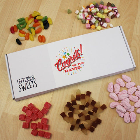 Personalised Congrats To You - Letterbox Sweets