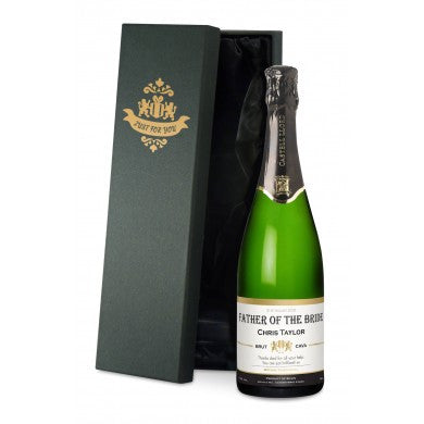 buy Contemporary Wedding Cava in a Silk Lined Gift Box