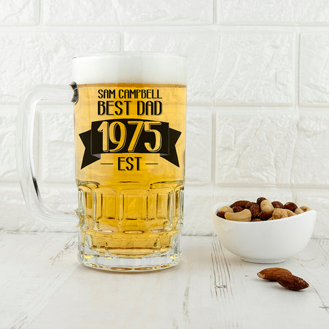 Dad Established In Beer Glass Tankard - Shane Todd Gifts UK