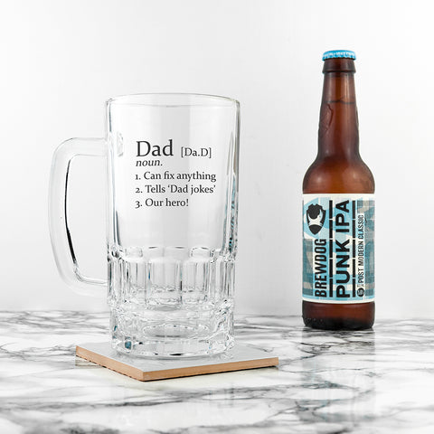 Definition Beer Glass Tankard - Shane Todd Gifts UK
