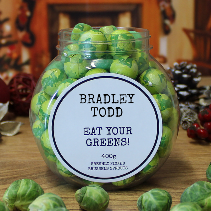 Chocolate Brussels Sprouts Jar, Food Items by Low Cost Gifts
