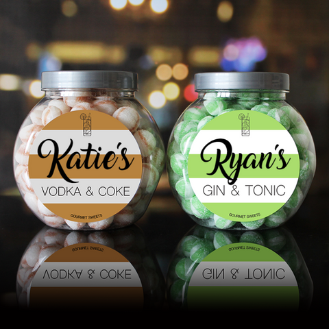 Vodka & Gin Flavour Sweet Jar Set