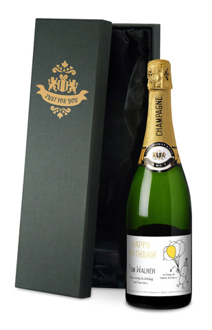 Personalised Chilli & Bubbles Birthday Champagne
