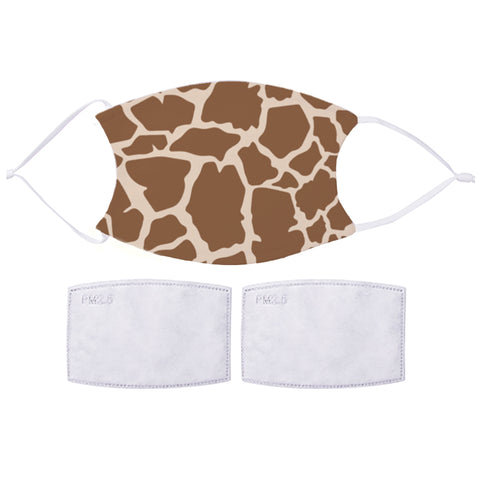 Printed Face Mask - Giraffe Pattern Design
