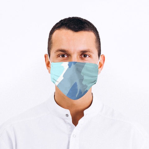 Blue Surfer Design Face Mask