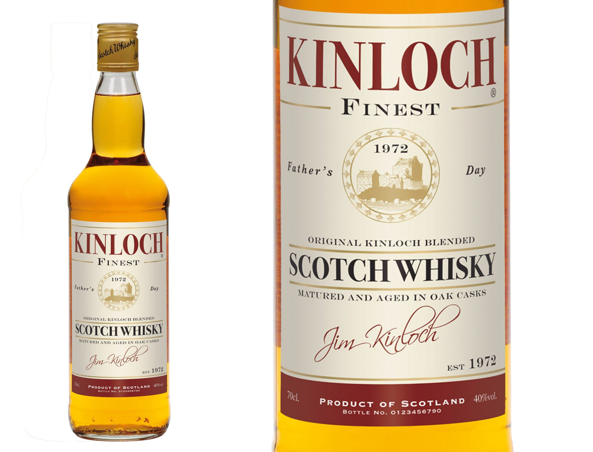 Personalised Father's Day Blended Whisky, Whisky by Low Cost Gifts