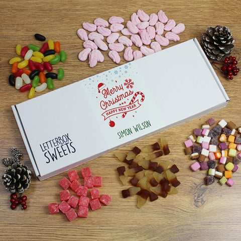 Personalised Letterbox Sweets - Merry Christmas