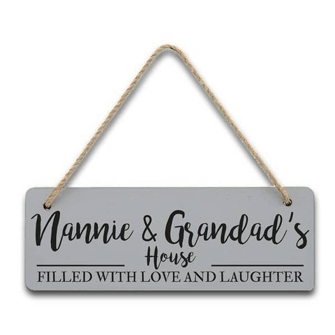 Filled with love and laughter house sign | ShaneToddGifts.co.uk