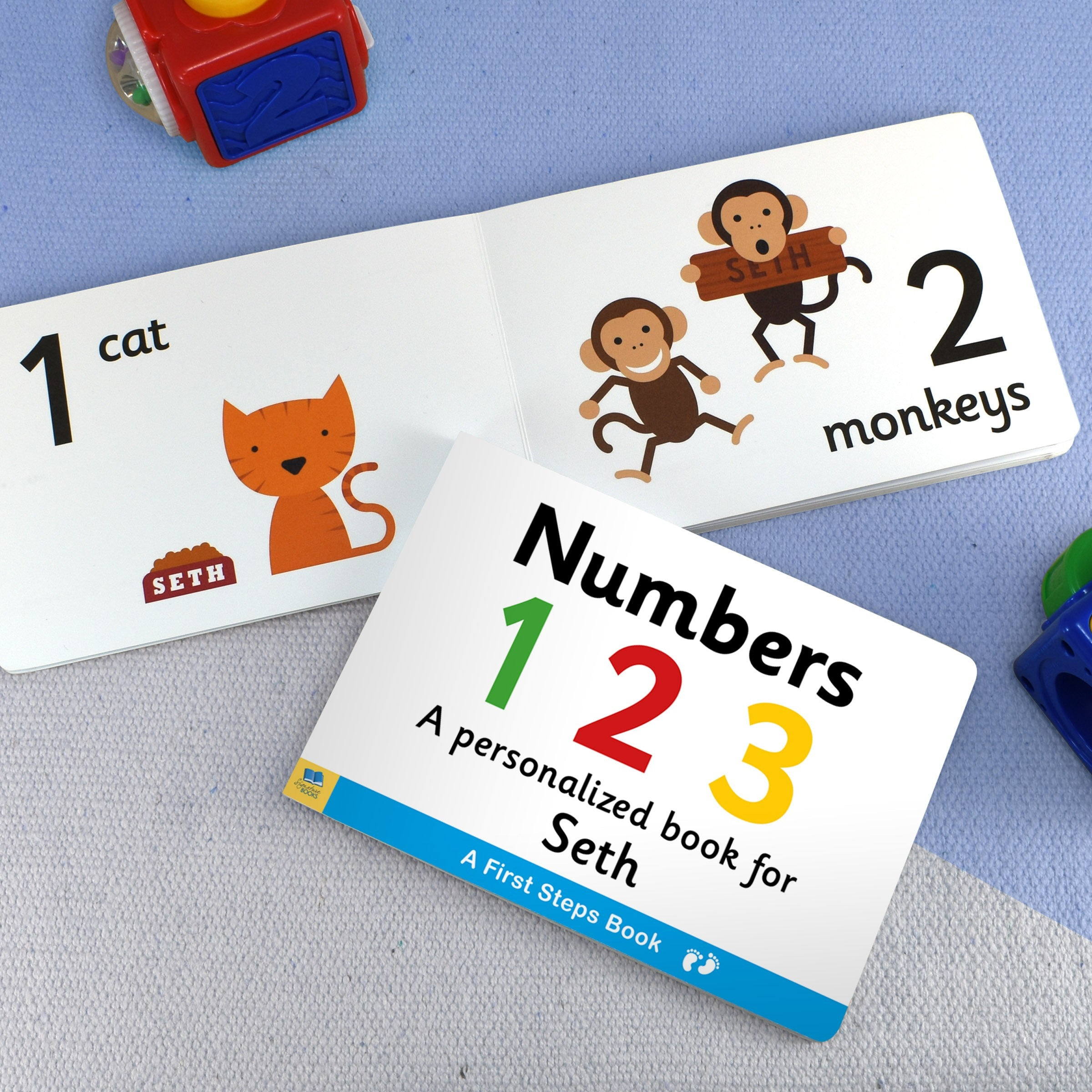 Personalised First Steps Numbers Board Book for Toddlers, Scrapbooking & Stamping Kits by Low Cost Gifts