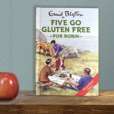 Personalised Five go Gluten Free -  Enid Blyton For Grown-Ups - Shane Todd Gifts UK