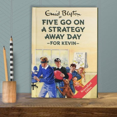 Personalised Five go on a Strategy Away Day -  Enid Blyton For Grown-Ups - Shane Todd Gifts UK
