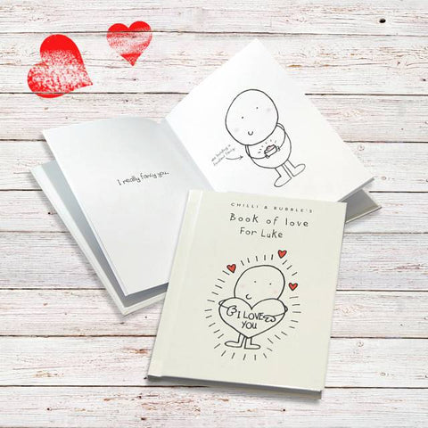 Personalised Chilli & Bubble's Book of Love for Him | ShaneToddGifts.co.uk