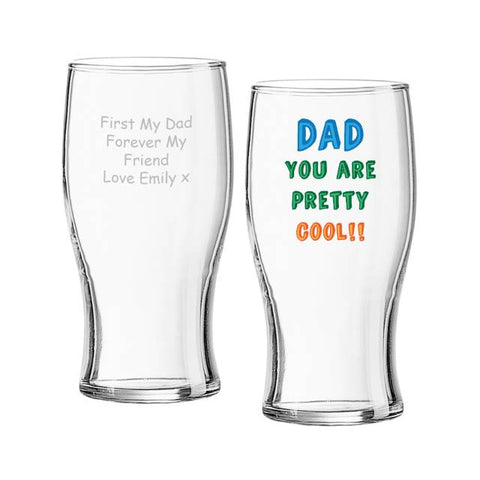Personalised Dad You are...Tulip Pint Glass