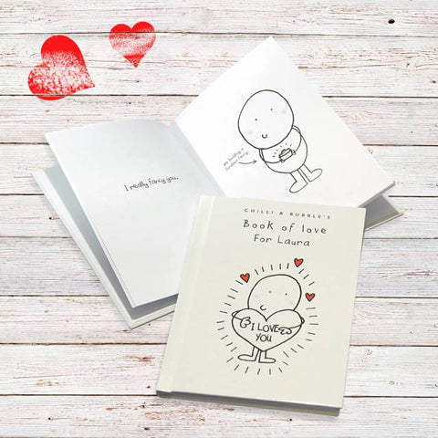 Personalised Chilli & Bubble's Book of Love for Her | ShaneToddGifts.co.uk
