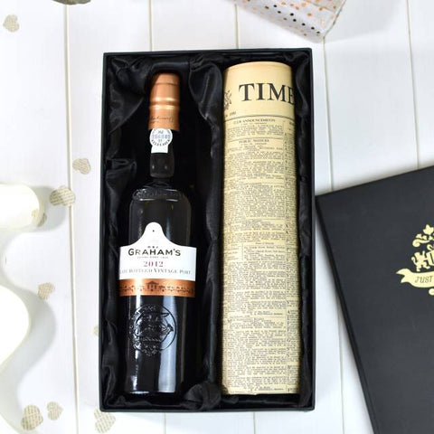 Sandemans LBV Port with Newspaper Giftpack