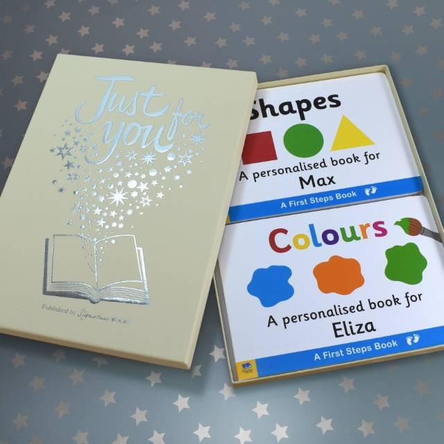 Personalised Dual box-set Shapes & Colours Board Books, Scrapbooking & Stamping Kits by Low Cost Gifts