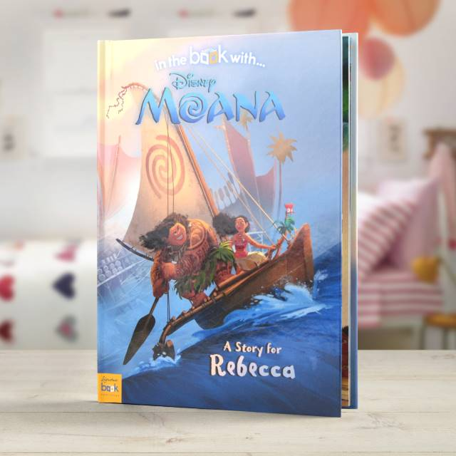 Personalised Moana - Hardback, Media by Low Cost Gifts