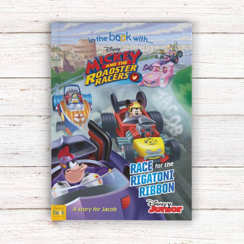 Personalised Mickey and the Roadster Racers - Softback | Gifts24-7.co.uk