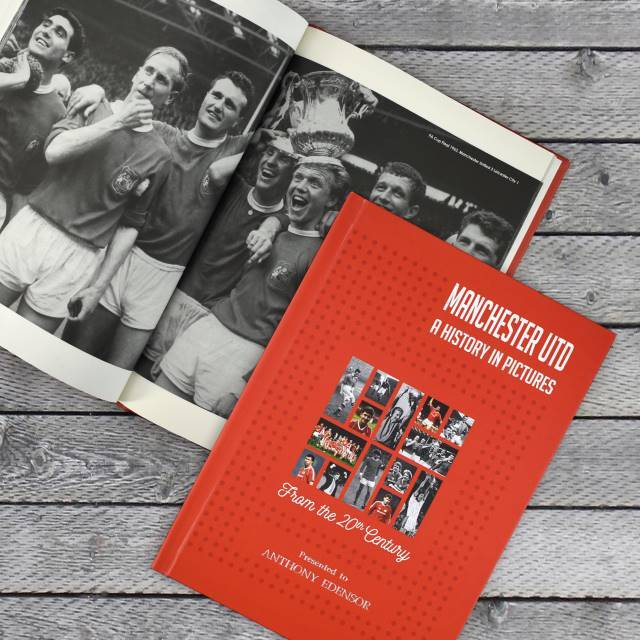 Personalised Manchester United:  Your Football Team A History In Pictures, Home & Garden by Low Cost Gifts