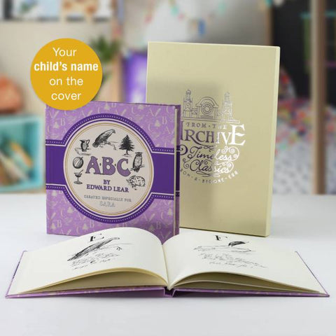 Personalised Edward Lear's ABC Traditional Book