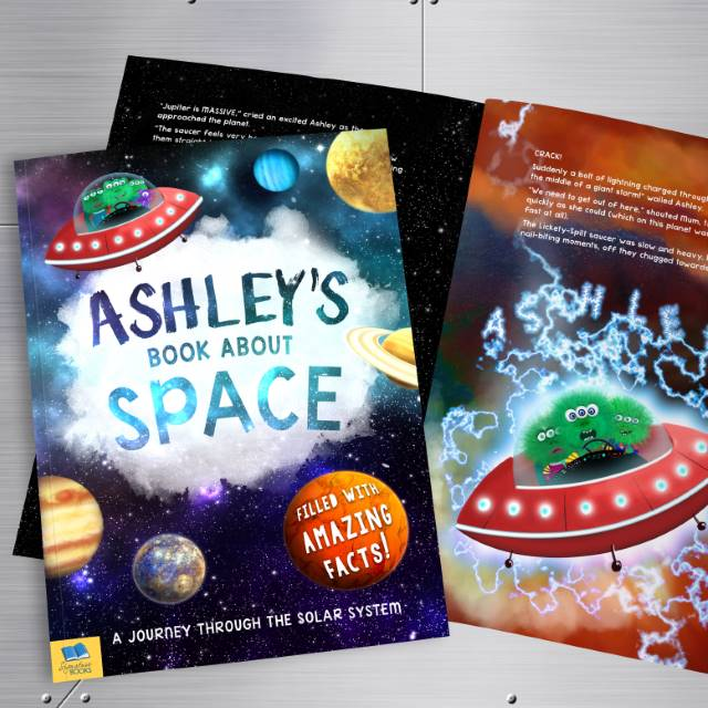 My Personalised Book About Space, Media by Low Cost Gifts