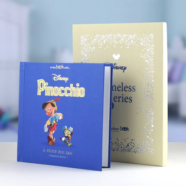 Personalised Timeless Pinocchio Book, Media by Low Cost Gifts