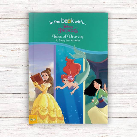 Personalised Disney Princesses: Tales of Bravery - Softback | Gifts24-7.co.uk