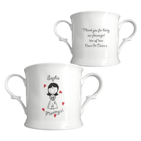 Graffiti Wedding Character Bone China Loving Cup