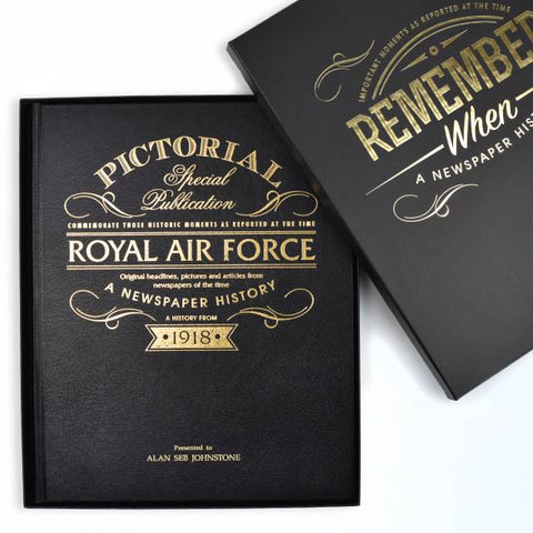 Personalised - RAF Pictorial Newspaper book
