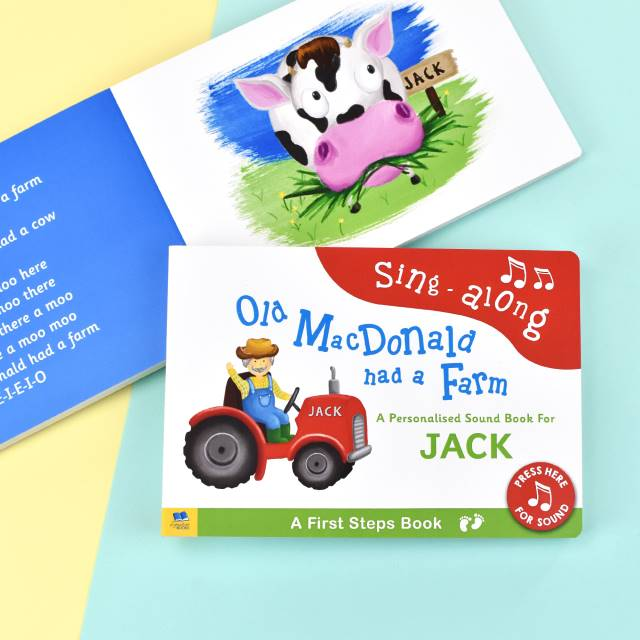 Personalised Old Macdonald Sound Book, Media by Low Cost Gifts