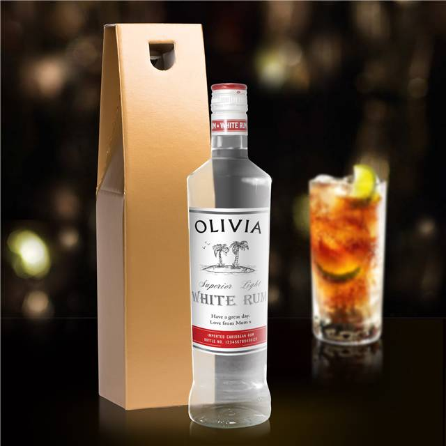 Personalised White Rum, Beverages by Low Cost Gifts