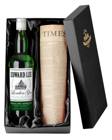 Personalised Gin with Newspaper Giftpack - Shane Todd Gifts UK