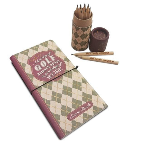 Golf Score Book & Pencils - Shane Todd Gifts UK