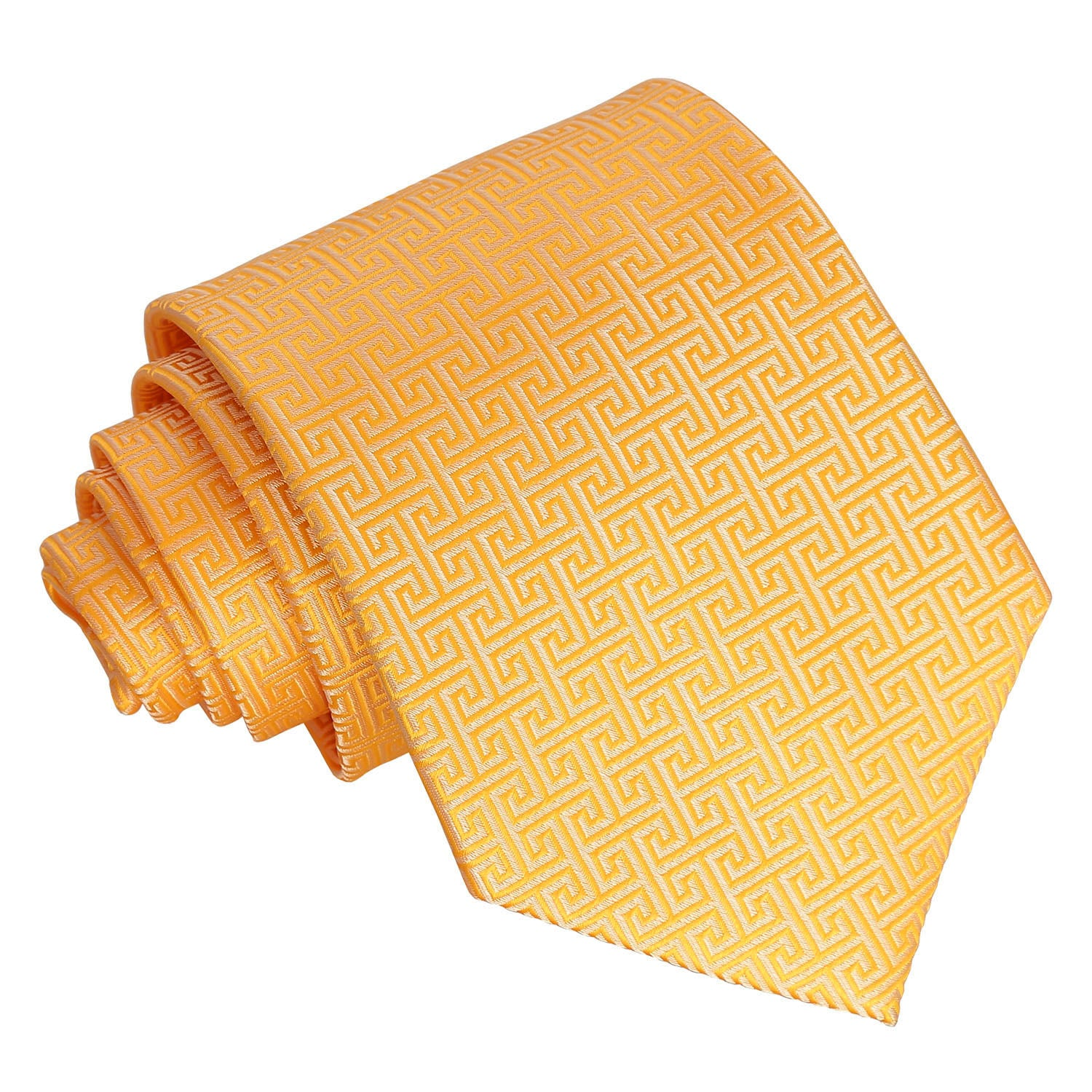 Greek Key Classic Tie - Marigold, Clothing & Accessories by Gifts24-7