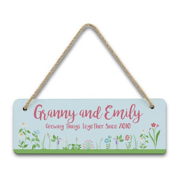 Growing Things Since Hanging Sign | ShaneToddGifts.co.uk