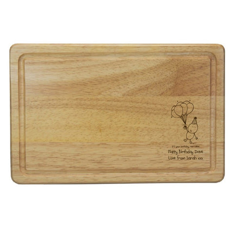 Chilli & Bubble's Birthday Rectangle Wooden Chopping Board
