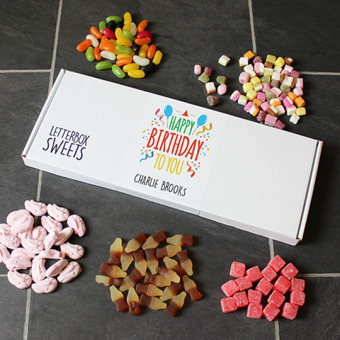 Personalised Letterbox Sweets - Happy Birthday