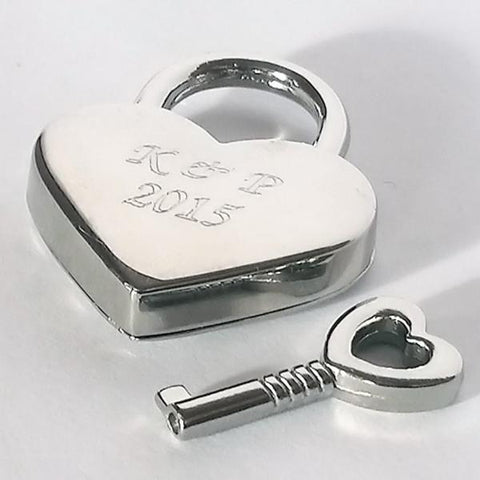 Heart Shaped Love Lock with Key