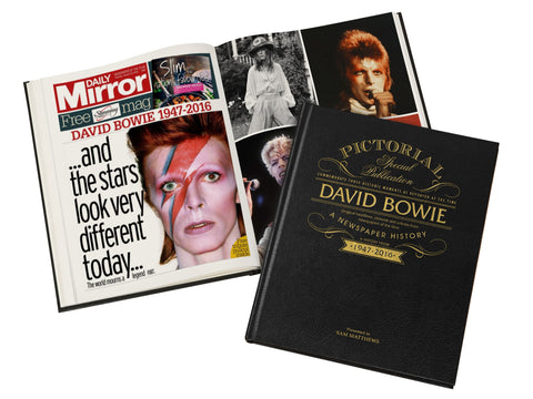 buy David Bowie Pictorial Edition Newspaper Book