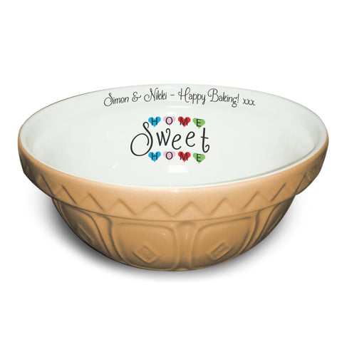 Home Sweet Home Tan Mixing Bowl