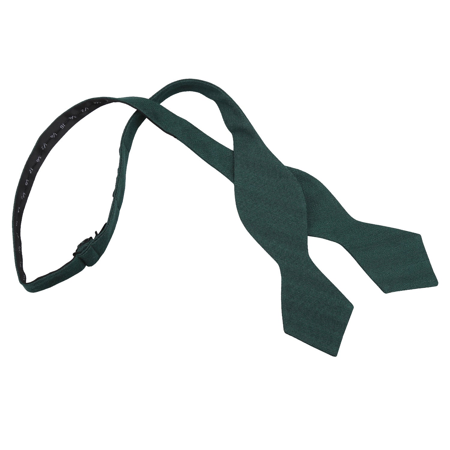 Ottoman Wool Pointed Self Tie Bow Tie - Bottle Green, Clothing & Accessories by Low Cost Gifts