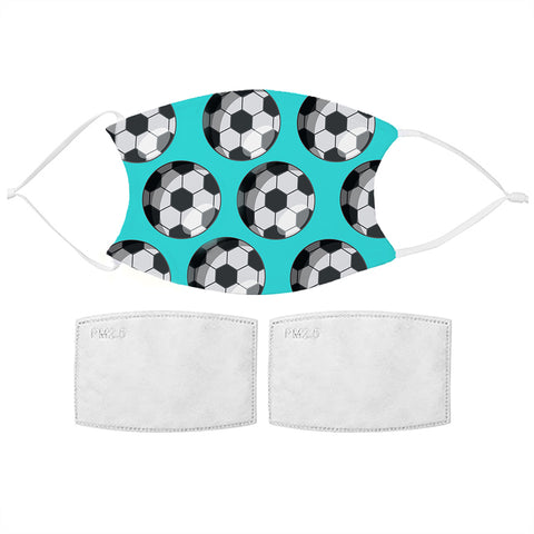 Kids Football Pattern Face Mask