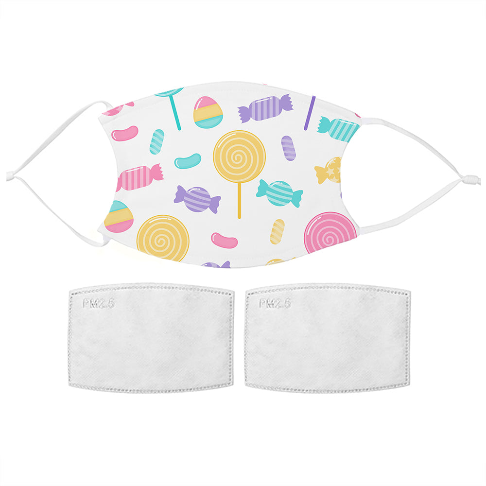 Kids Sweets Pattern Face Mask, Food Items by Low Cost Gifts