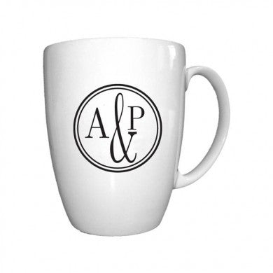 Monogram Circle Bone China Conic Mug - Shane Todd Gifts UK