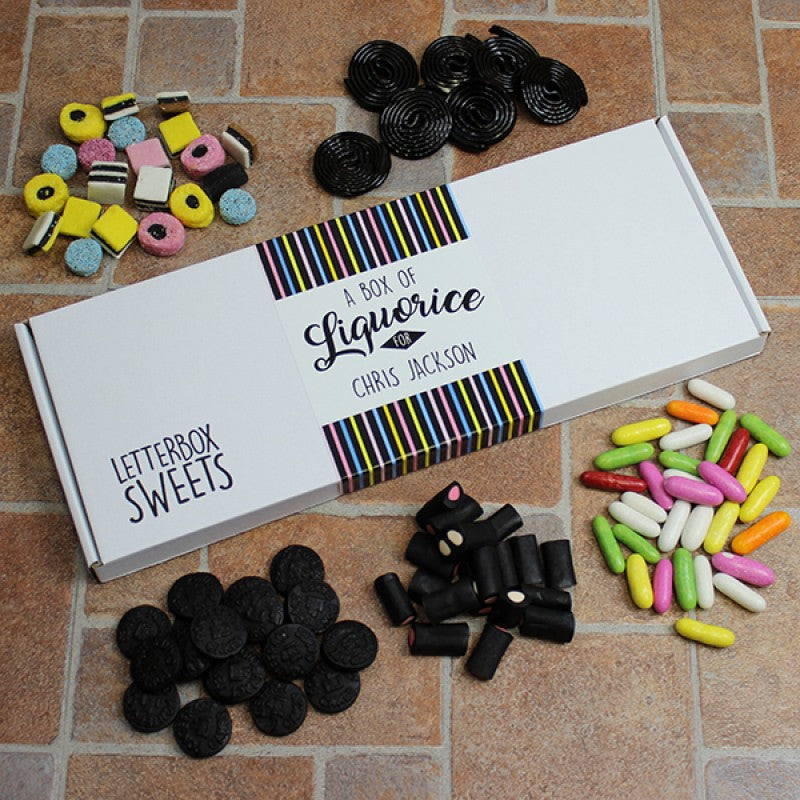 Personalised Liquorice - Letterbox Sweets, Sweets & Chocolate - Image 0